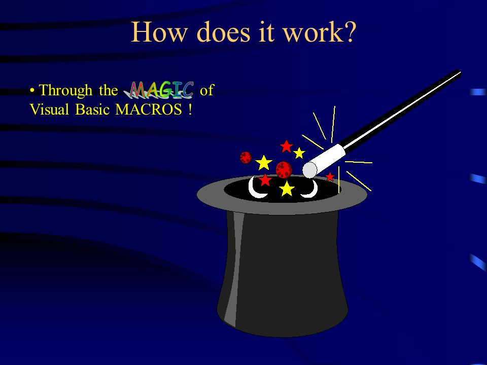 Heres how...Smarterm uses a proprietary version of Visual Basic for macros.