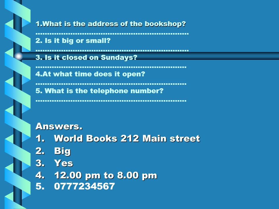 Read the following poster and answer the questions