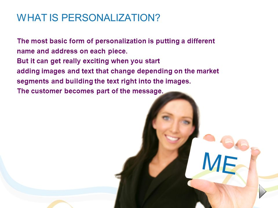 WHAT IS PERSONALIZATION.