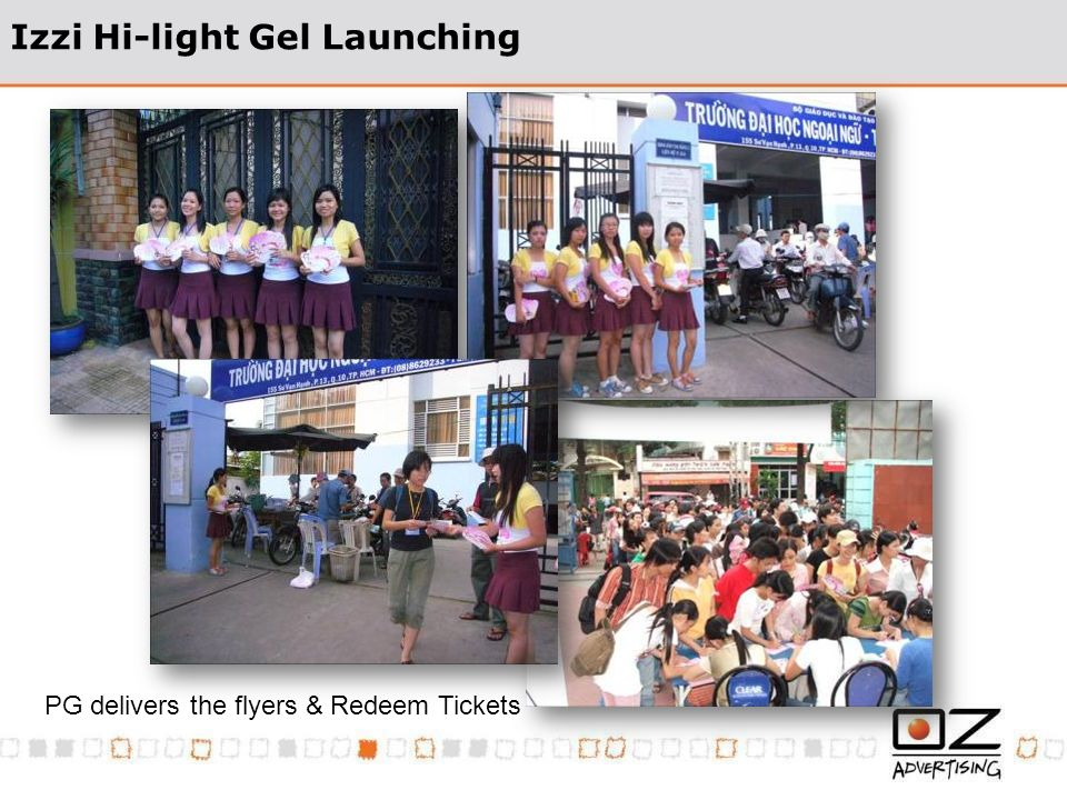 Izzi Hi-light Gel Launching PG delivers the flyers & Redeem Tickets