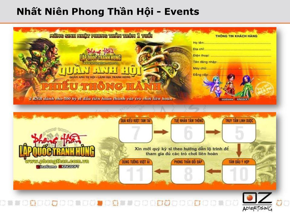 Nhất Niên Phong Thần Hội - Events