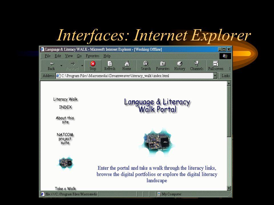 Interfaces: Internet Explorer
