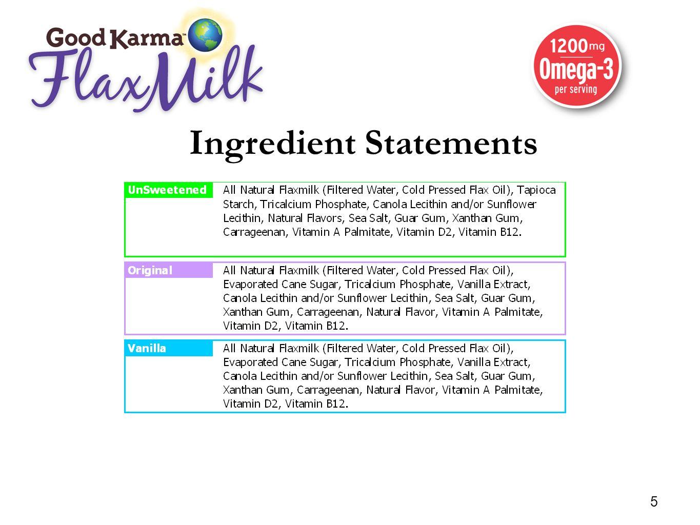 Nutrition Facts Specifications UnsweetenedOriginalVanilla