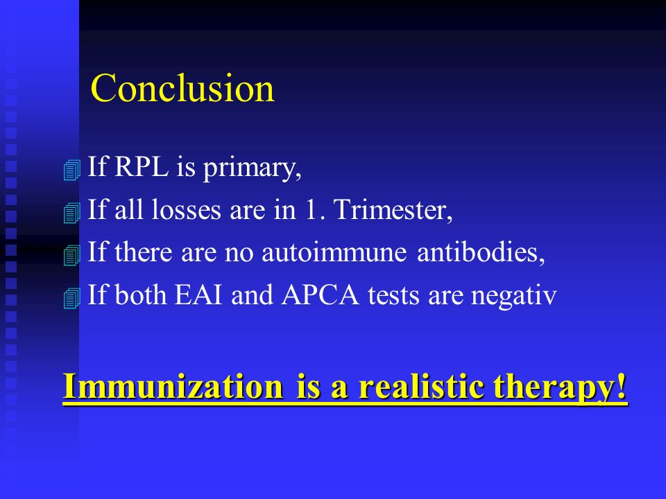 Immunotherapy results