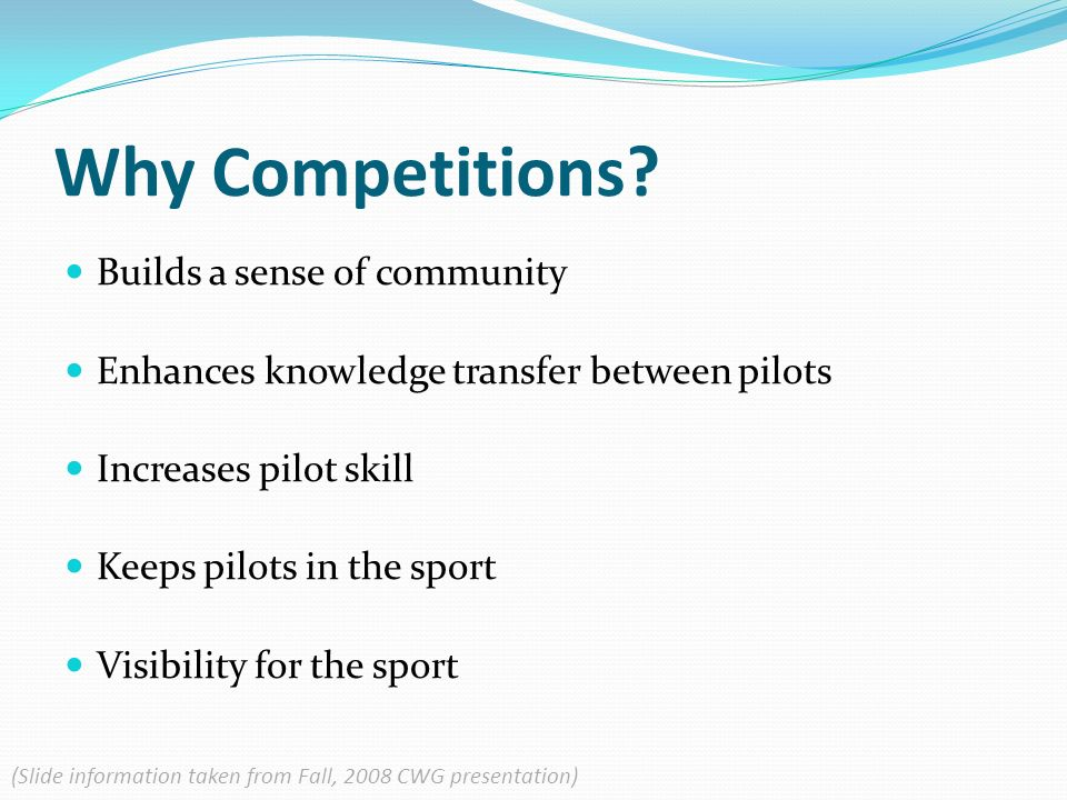 Why Competitions.