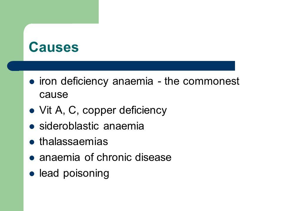 Clinical Features Possible symptoms: pallor fatigue dyspnoea anorexia headache bowel disturbance