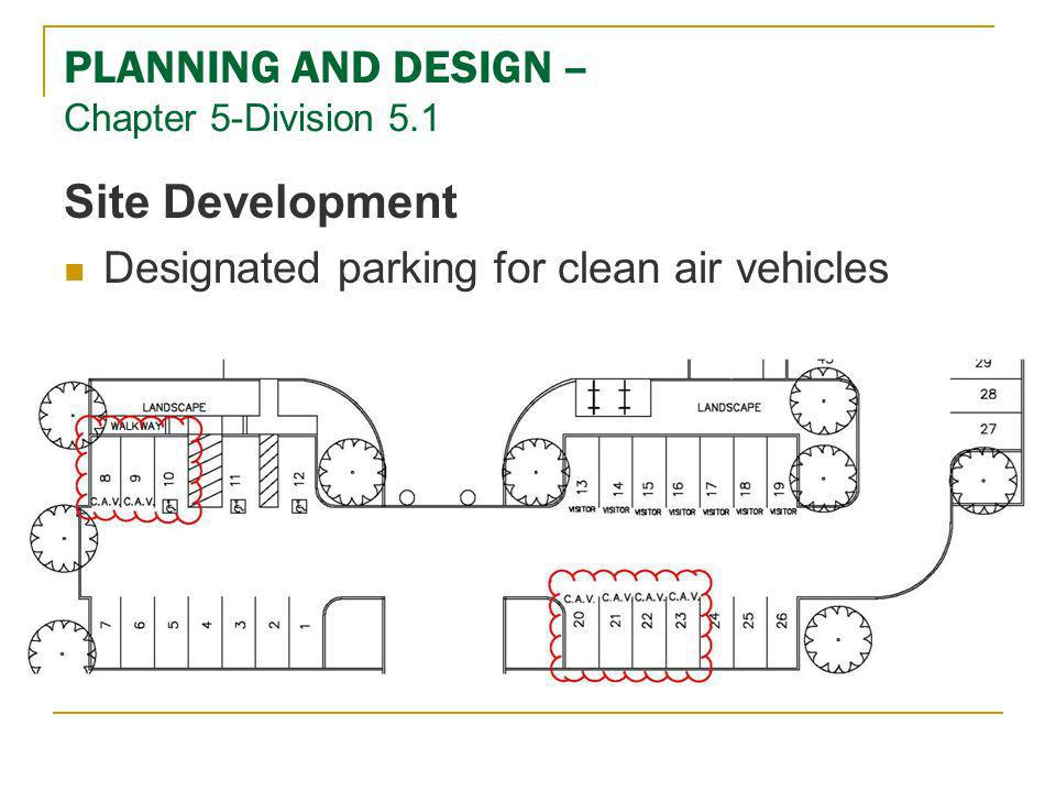 PLANNING AND DESIGN – Chapter 5-Division 5.1 Site Development Designated parking for clean air vehicles