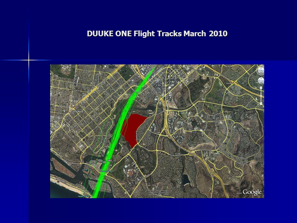 DUUKE ONE Flight Tracks March 2010