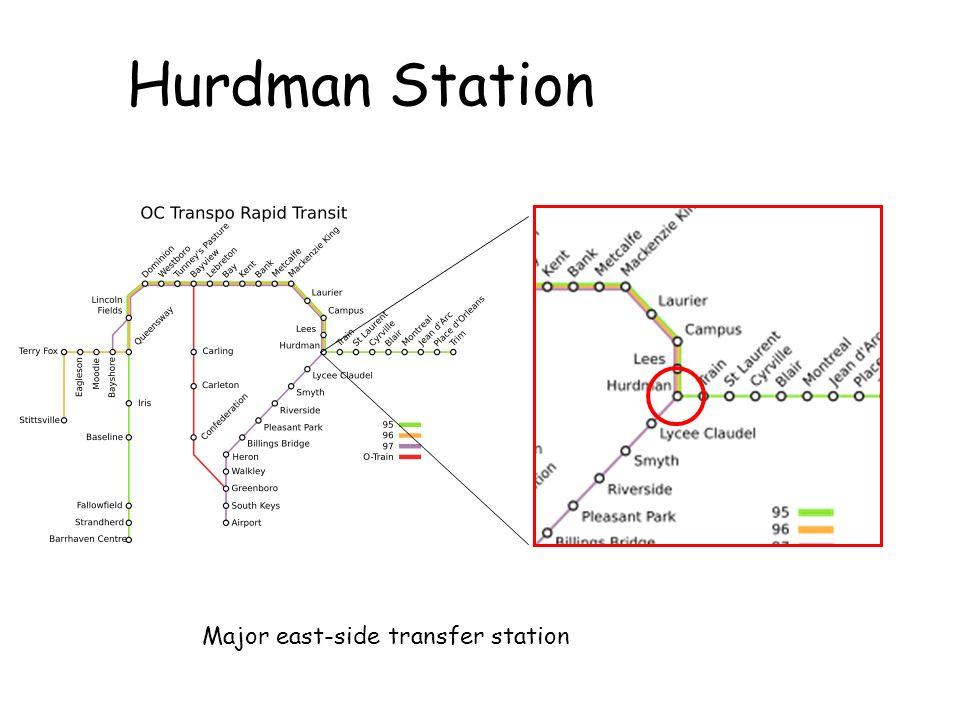 Hurdman Station Major east-side transfer station
