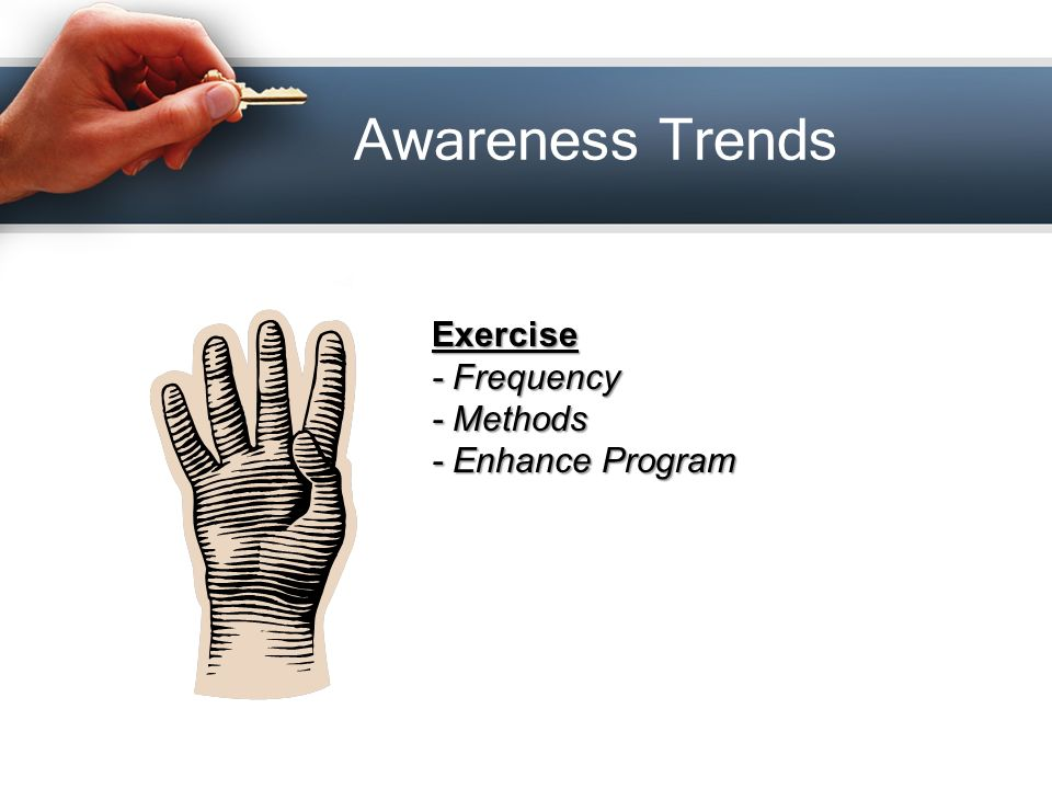 Awareness Trends Exercise - Frequency - Methods - Enhance Program