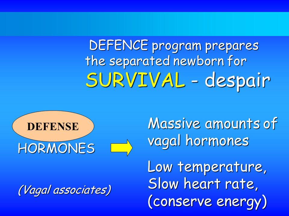 DEFENCE program prepares the separated newborn for SURVIVAL - despair DEFENCE program prepares the separated newborn for SURVIVAL - despair DEFENSE HO