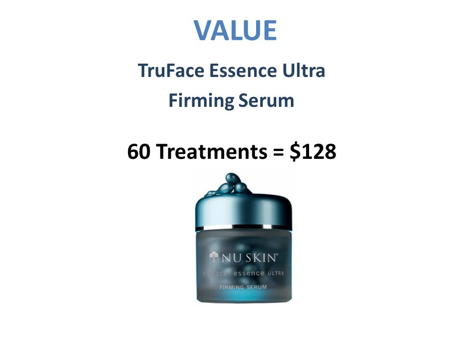 VALUE TruFace Essence Ultra Firming Serum 60 Treatments = $128