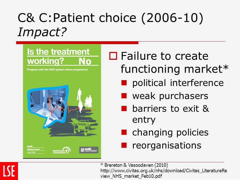 C& C:Patient choice (2006-10) Impact.