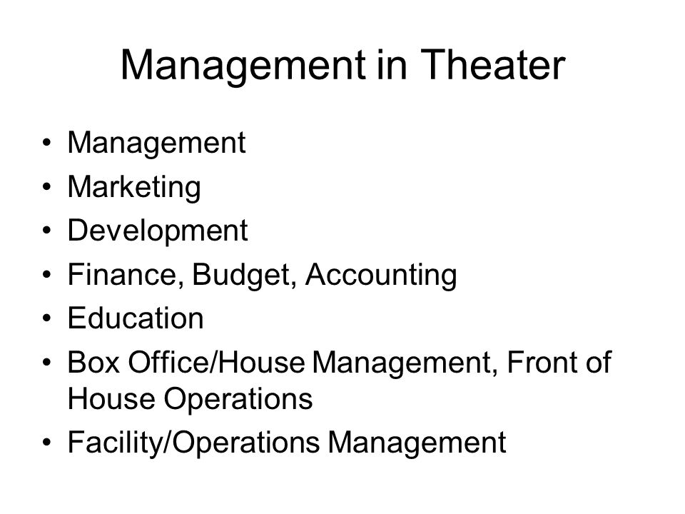Levels of Management Managing Director General Manager Company Manager *in larger organizations all three may exist, each with different levels of responsibility