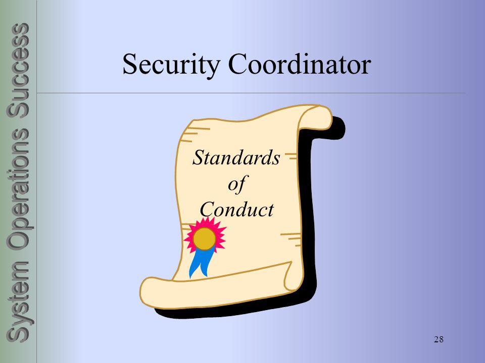 28 Security Coordinator Standards of Conduct