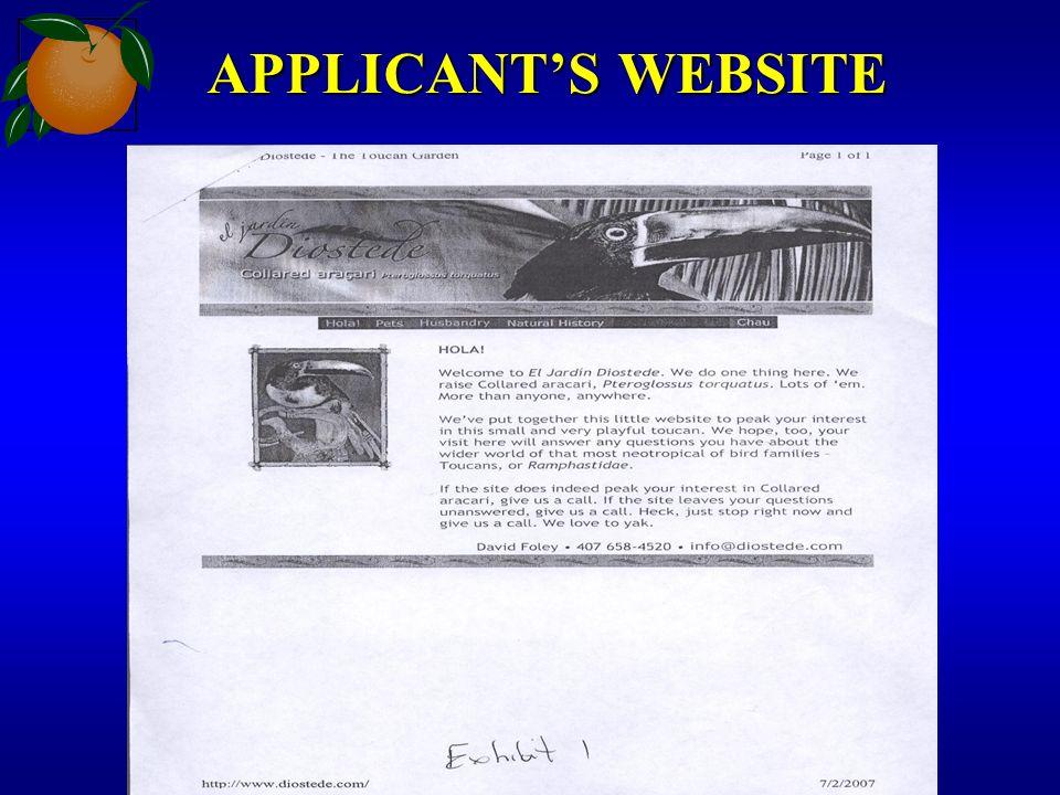 APPLICANTS WEBSITE