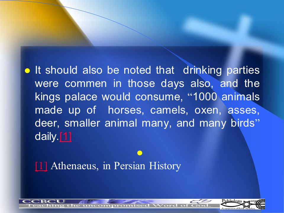 It should also be noted that drinking parties were commen in those days also, and the kings palace would consume, 1000 animals made up of horses, came