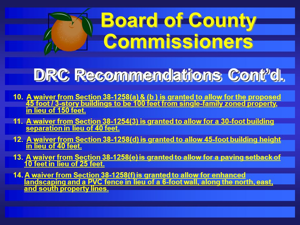 Board of County Commissioners 10.