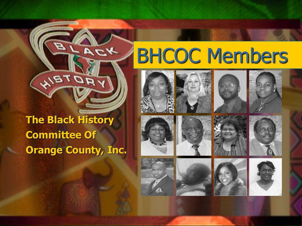 Qsxa z Mission Educate the citizens of Orlando/ Orange County and America about Black history, which is a vital source of American history