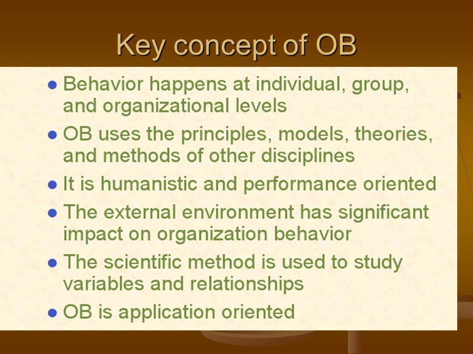 Key concept of OB