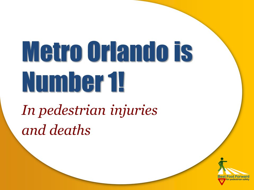 The Problem Two pedestrians injured daily One killed per week