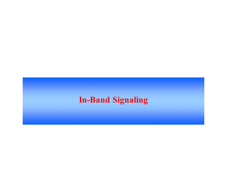 In-Band Signaling Signaling Made Up Of Tones Which Pass Within The Voice Frequency Band And Are Carried Along The Same Circuit As The Talk Path.