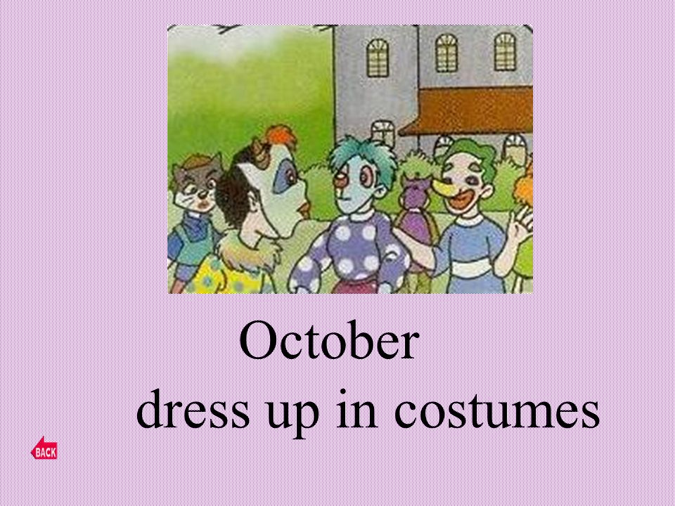 October dress up in costumes