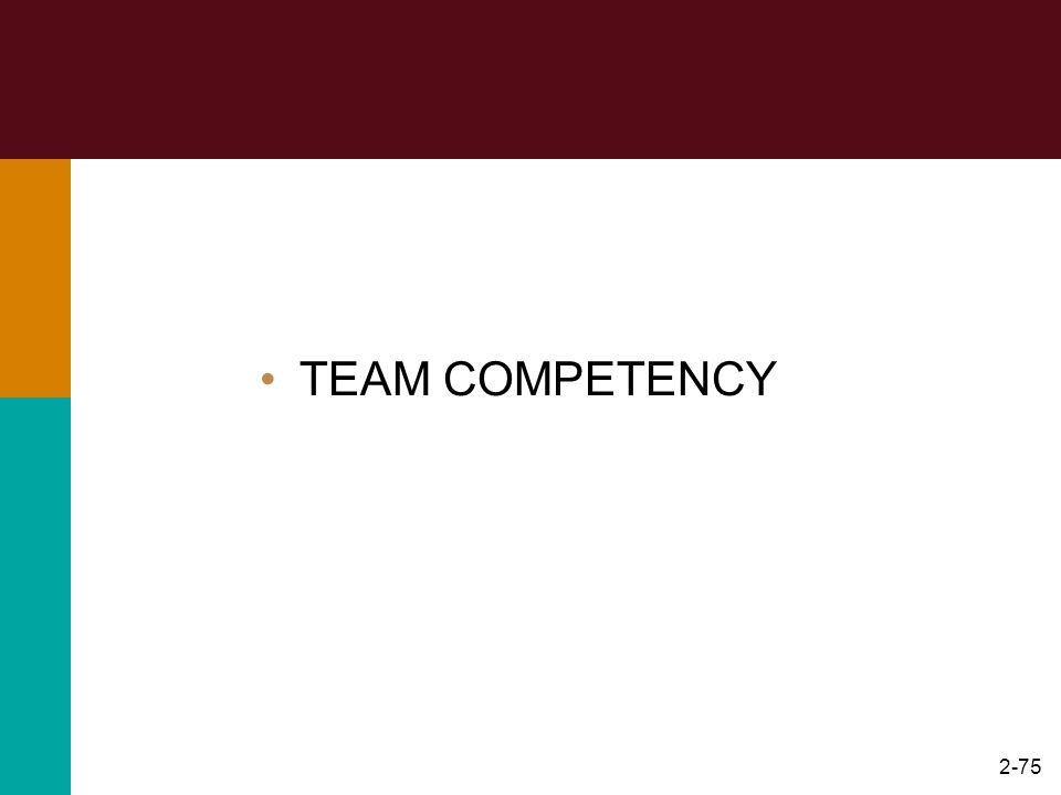 2-75 TEAM COMPETENCY