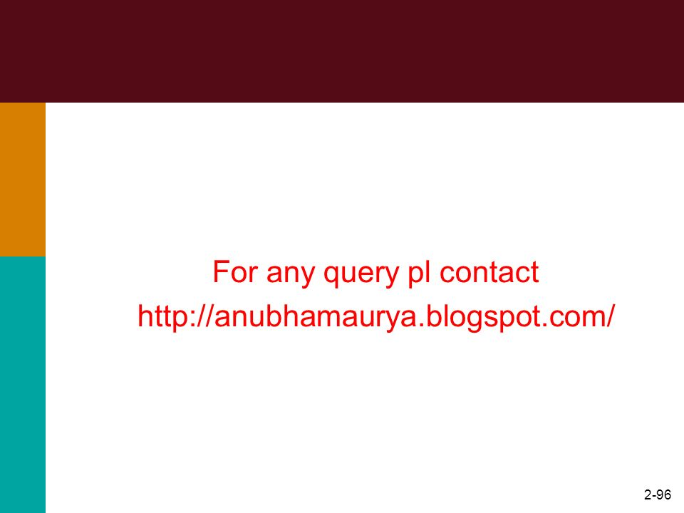 2-96 For any query pl contact http://anubhamaurya.blogspot.com/ Thank You