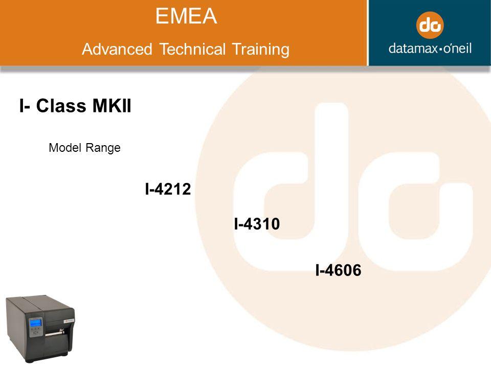 Title EMEA Advanced Technical Training I- Class MKII Model Range I-4212 I-4310 I-4606