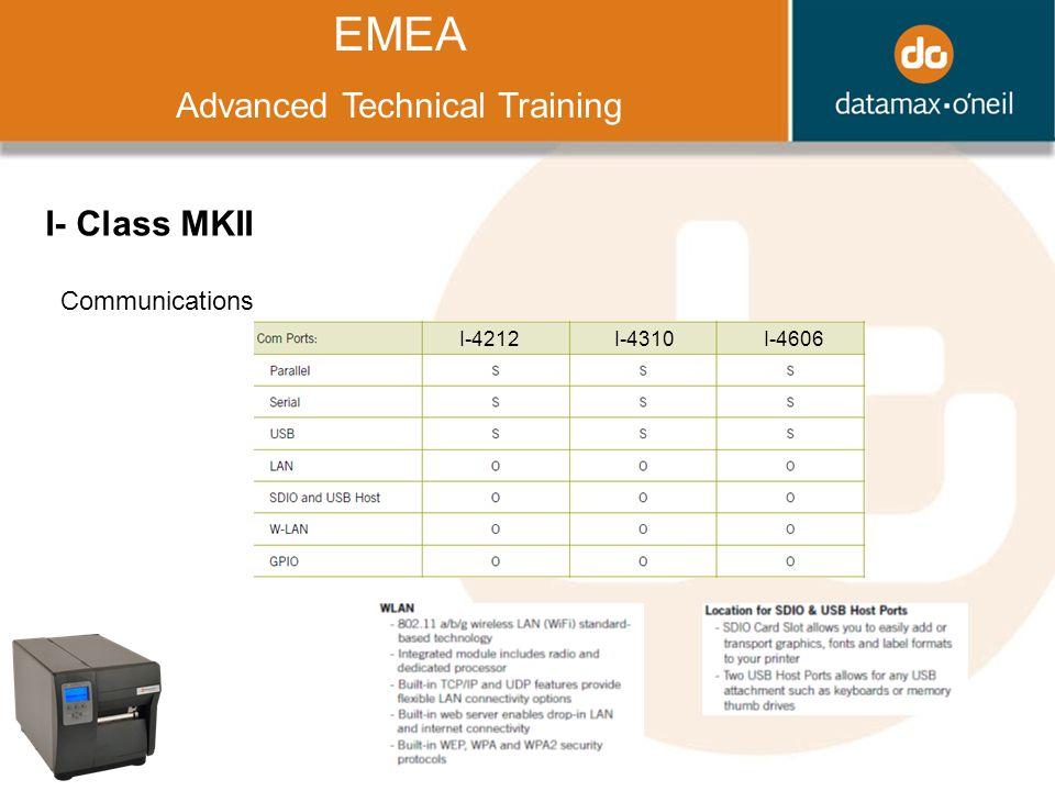 Title EMEA Advanced Technical Training I- Class MKII Communications I-4212I-4310I-4606