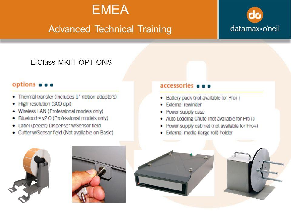 Title EMEA Advanced Technical Training E-Class MKIII OPTIONS