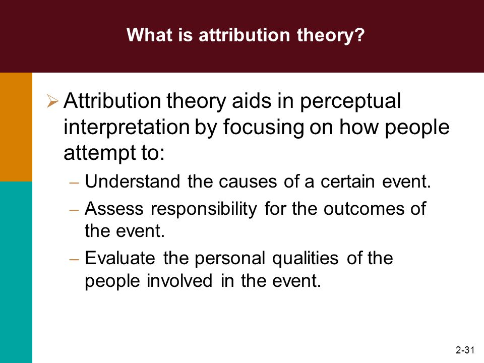 2-30 Factors influencing Perception Factors in the perceiver Attitudes Motives Interests Experience Expectations Perception Factors in the Target Nove