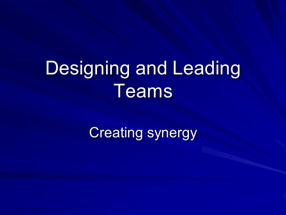 Team Building Role definition –Members describe their role perceptions and expectations of other members –Members work to a common model of roles Interpersonal processes –Building openness, trust and common understandings through dialogue –Wilderness challenges and the like are used by many organizations for this