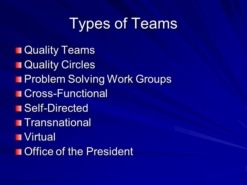 Virtual Teams Need several communication channels Operate better with structured tasks Need to be smaller than conventional teams Members must be skilled in communication through information technology Members may need cross-cultural awareness and knowledge Face-to-face interaction needed for development and cohesiveness