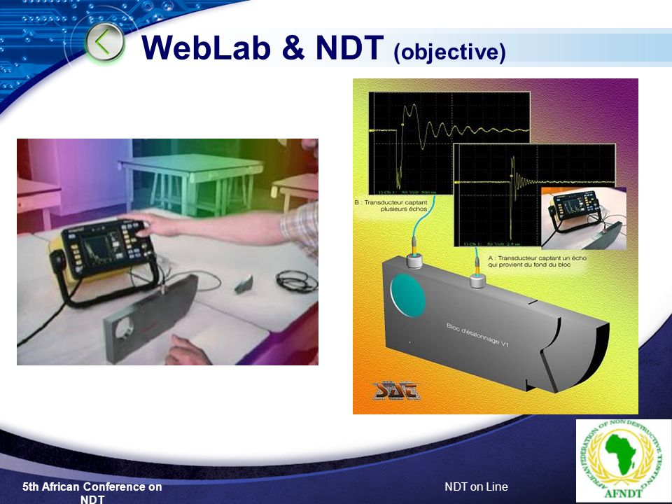 NDT on Line WebLab & NDT (objective)