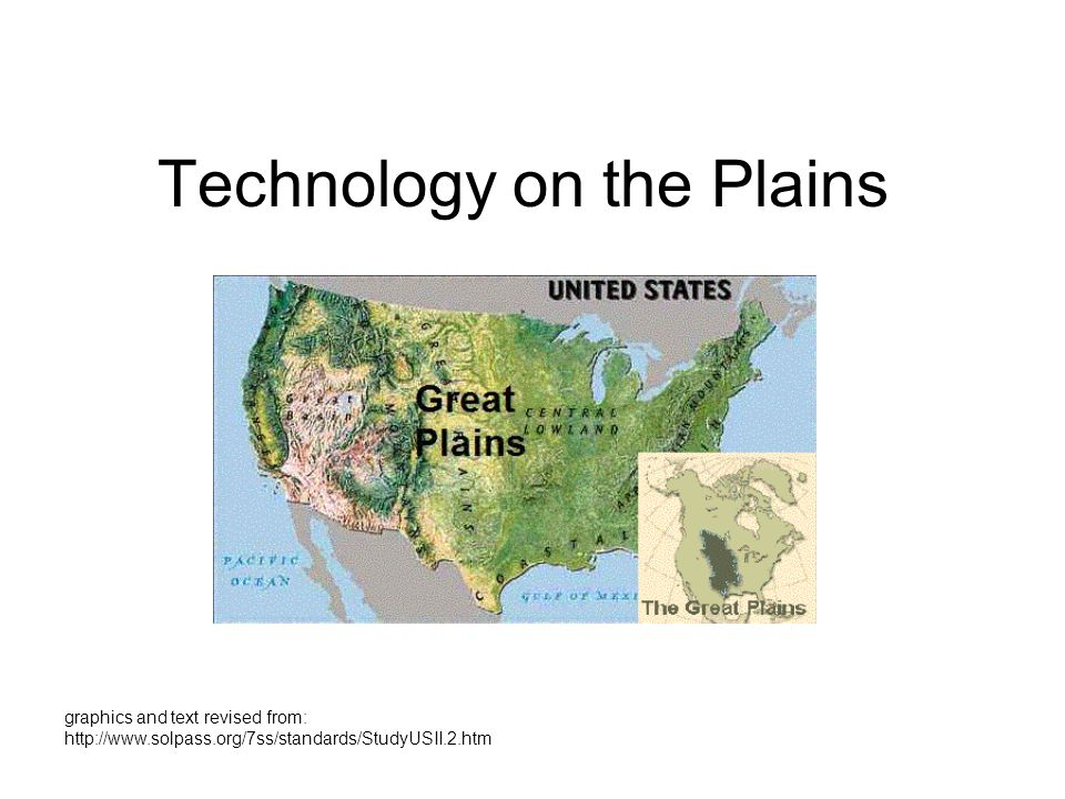 Technology on the Plains Kirsten graphics and text revised from: http://www.solpass.org/7ss/standards/StudyUSII.2.htm