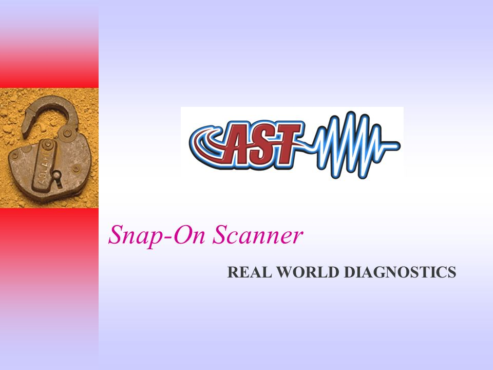 Snap-On Scanner REAL WORLD DIAGNOSTICS