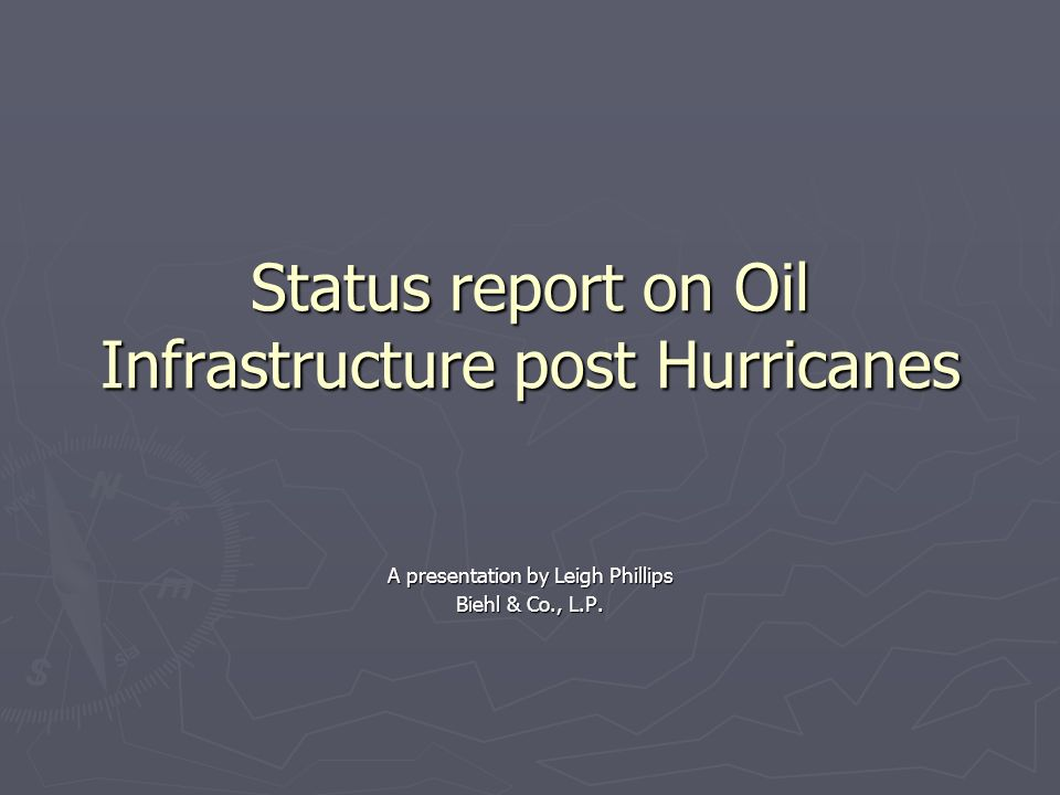 Introducing the Gulf of Mexico The energy infrastructure of the Gulf of Mexico includes offshore oil and gas production, drilling rigs, platforms, an extensive work of pipelines, oil refineries and the LOOP (Louisiana Offshore Oil Port), which handles almost 11% of the nations oil import.
