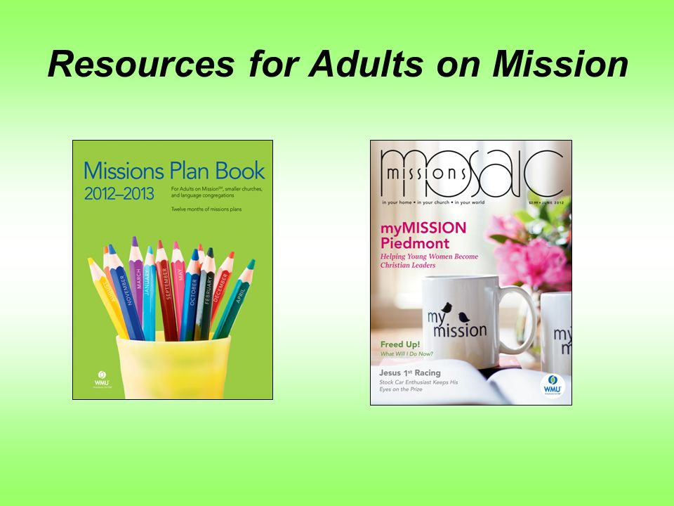 Resources for Adults on Mission