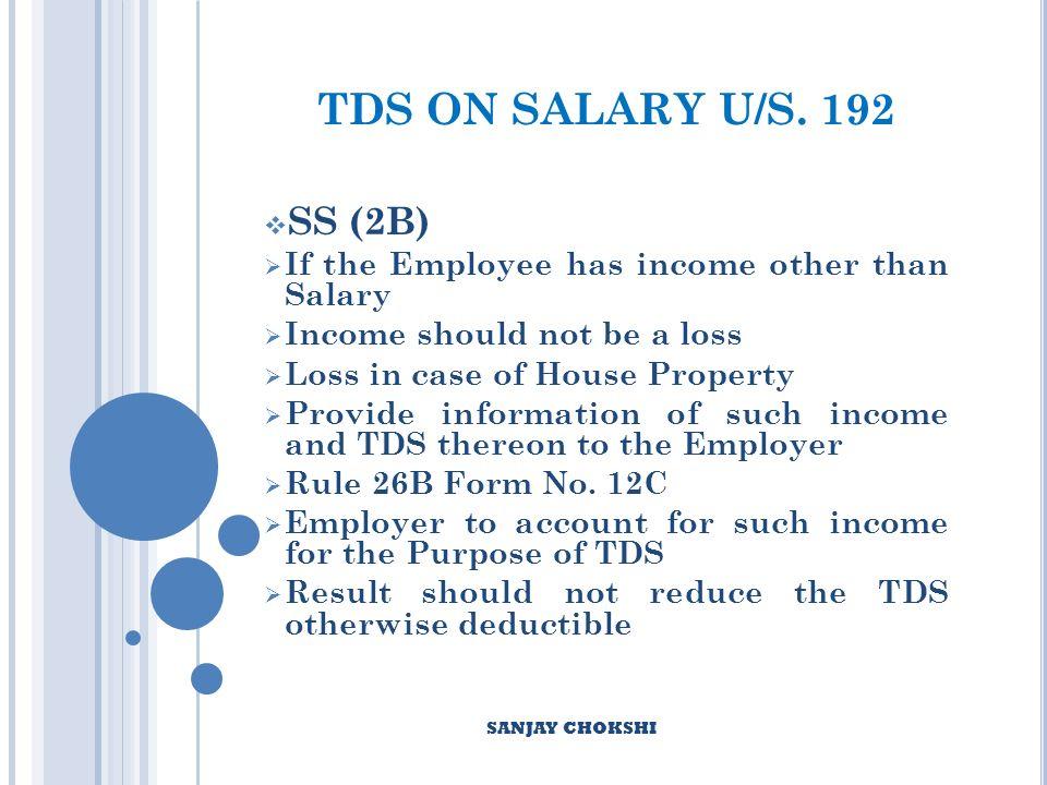 TDS ON SALARY U/S.