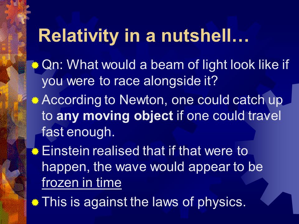 ON TIME An Introduction into the theory behind Albert Einsteins Special Relativity
