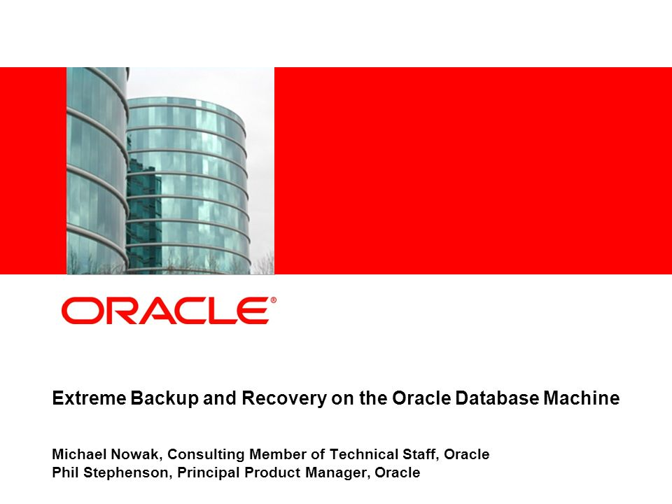 – 32 – Cold hard disk backup performance data Recovery Manager: Release 11.2.0.1.0 - Production on Mon Oct 5 05:43:25 2009 Copyright (c) 1982, 2009, Oracle and/or its affiliates.