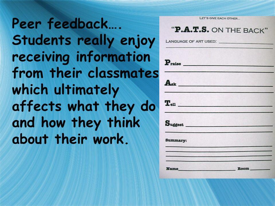 Peer feedback….