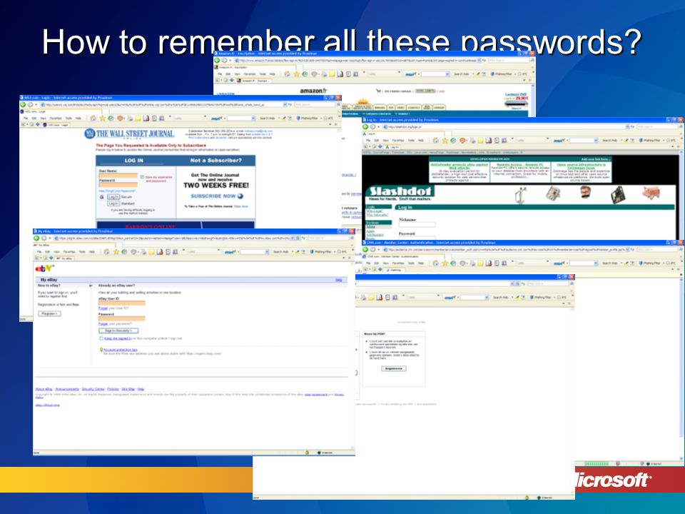 How to remember all these passwords