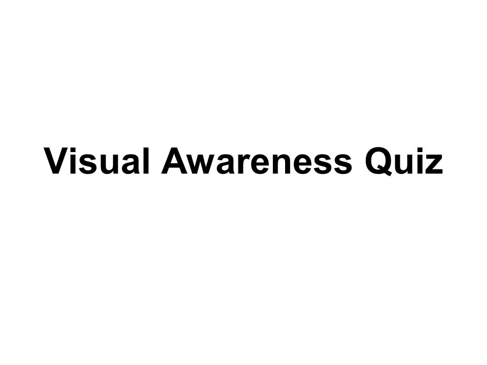 Visual Awareness Quiz