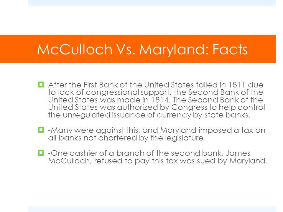McCulloch Vs.