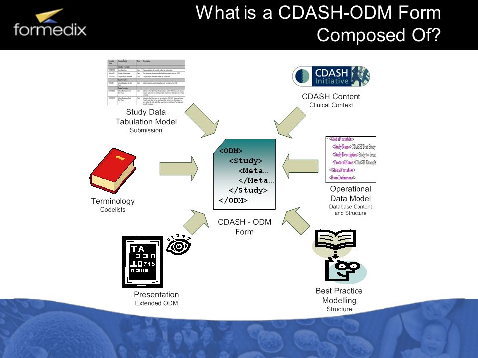What is a CDASH-ODM Form Composed Of?