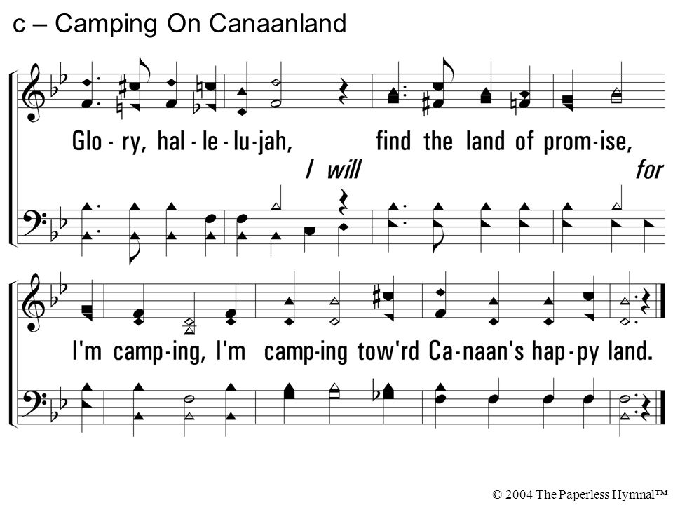 c – Camping On Canaanland © 2004 The Paperless Hymnal