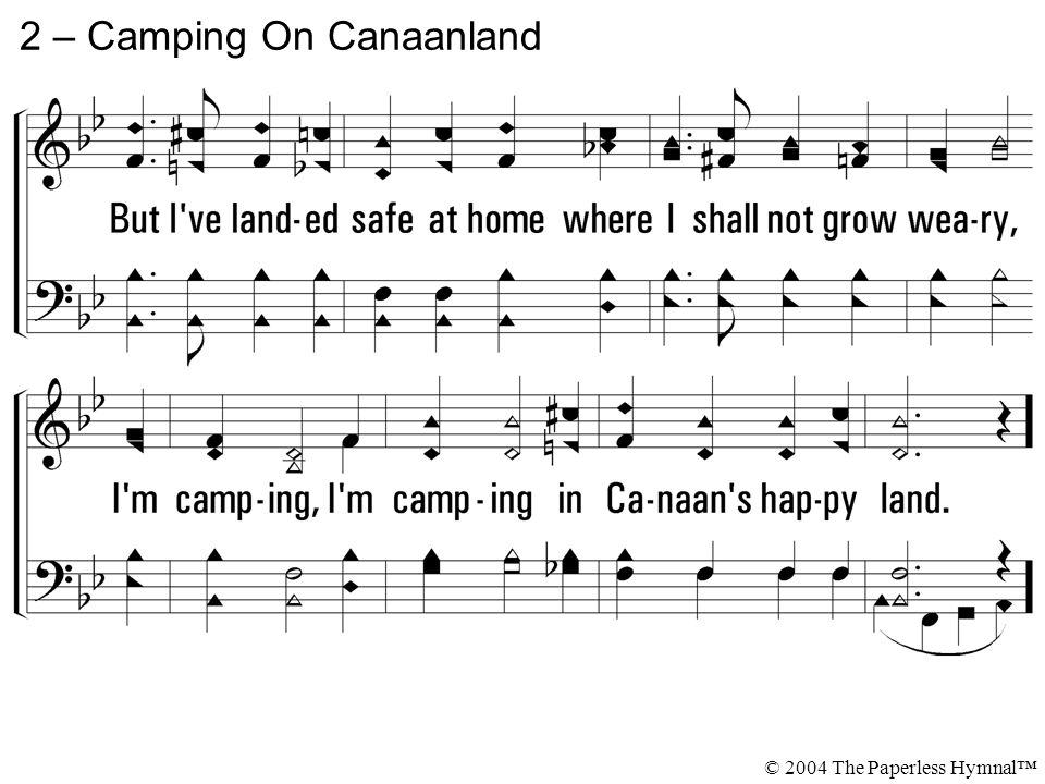 2 – Camping On Canaanland © 2004 The Paperless Hymnal